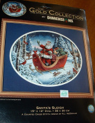 The Gold Collection By Dimensions Counted Cross Stitch, Santa's Sleigh