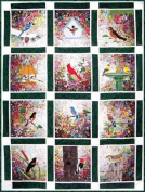 Whims Watercolour Quilt Kits Rachel's Bird Garden Quilting Supplies