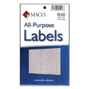 Maco Multi-Purpose Handwrite Labels rectangular 1cm . x 3.2cm . 1000