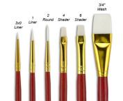 """Fundamentals"""" Short Handle Brush Set No. 14"""