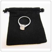 """25x Black Velvet/Velour Jewellery Gift Pouch 5.1cm x 5.1cm Drawstring"""" """""""