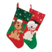 Christmas House Pet Christmas Stocking, Cat or Dog