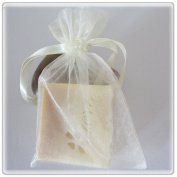 30 Ivory Wedding Organza Favour Gift Bags 10cm x 15cm
