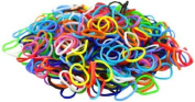 1000 Rainbow Colours Rubber Band Refill + 140 S-Clips - 100% Compatible with All Looms