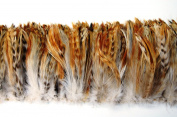 7.6cm NATURAL CHINCHILLA HACKLE Feather Fringe 10cm - 15cm