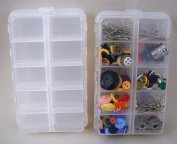 Set of 2 Sewing Organiser 20 Compartment Boxes