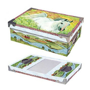 Horse in Meadow Medium Snap Box ST002