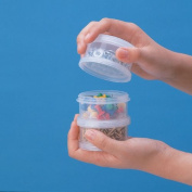 3 Round Stackable Storage Jars / Joint Case TJ-73