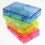 Darice 8.9cm by 11cm by 2.5cm Neon Plastic Organiser, Set of 4