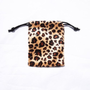 3x4 Pack of 12 Leopard Flannel Bags - Wild Animal Print Flannel Flat Bags