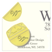 "Monogram - ""W"" - Paper Clips - Pack of 100"