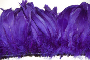 25cm NAGORIE Feather Fringe 15cm - 20cm Dyed PURPLE