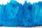 25cm NAGORIE Feather Fringe 15cm - 20cm Dyed TURQUOISE