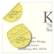 "Monogram - ""K"" - Paper Clips - Pack of 100"