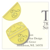 "Monogram - ""T"" - Paper Clips - Pack of 100"