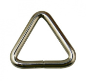 Chuzhao Wu Metal Silvery 2.5cm Inside Length Equilateral Triangle Buckle