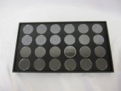 24 Gem Jar Tray Black Foam Insert Jewellery Gemstone Display