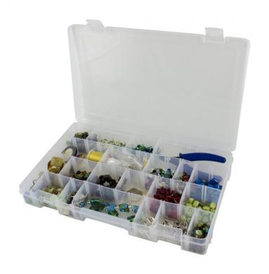 Barefoot bella plastic craft storage box with lid and for Craft storage boxes with lids