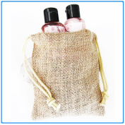 New Burlap Favour Gift Bags With Drawstring 5 x 6 - Pack Of 24 Bags Medium
