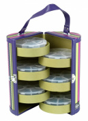 Creative Options 700-706 Portable Bead and Embellishment Tower with 6-Round Organisers, Purple/Magenta/Silver