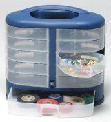 Eleven See Through Bins, Drawer Cabinet, Hardware, Sewing, Craft, Scrapbooking Cabinet, Handle, Wall Mount
