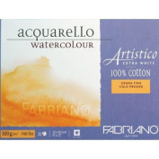 Fabriano Artistico 140 lb. Cold Press 20 Sheet Block 30cm x 46cm - Extra White