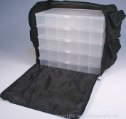 Black Nylon Bead, Sewing, Craft Supply Storage Caddy Tote with 5 Organisers