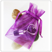 150 Purple Wedding Organza Favour Gift Bags 7.6cm x 10cm