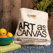 LadyBagsSF Canvas Tote Bag with Destroyed Handle