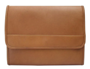 Saddle Envelope Portfolio w Large Front Zip-Pockets in Leather
