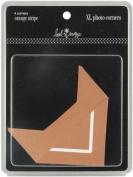 Advantus Corporation Heidi Swapp XL Photo Corners 4/Package, Stripe Orange