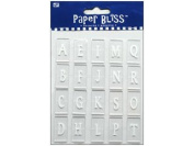 Westrim Paper Bliss Accents - Acrylic Straight Up (Alphabet) Letter Tiles