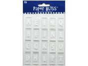 Westrim Paper Bliss Accents - Acrylic Straight Up (Alphabet) Letter Tiles