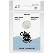 Glue Dots 1cm Memory Dot Sheet, 252 Clear Dots