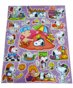 Purple Peanuts Snoopy on Vacation Sticker Sheet