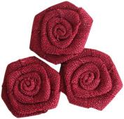 Maya Road BUR2257 Burlap Roses Embellishments, Barn