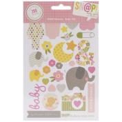 Simple Stories Sn@p Set - Sn@p Stickers - Baby Girl