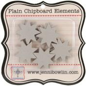 Plain Chipboard Elements 24/Pkg-Quilt Stars