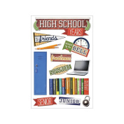 3D Sticker 11cm x 18cm Sheet-High School