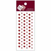 Self-Adhesive Jewel Embellishments 5.4cm x 15cm Sheet-Crystal Red