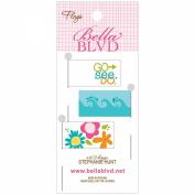 Sand & Surf Stick Pin Paper Flags 3/Pkg-