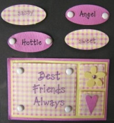 Mark Richards 3 Dimensional Stickers-Best Friends