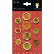Imaginisce Bushel O' Fall Wood Button Embellishments