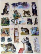German scrap, die cuts musical cats 7288