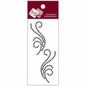 Self-Adhesive Jewel Embellishments 5.1cm x 11cm Sheet-Crystal Jet