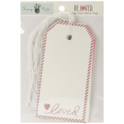 Fancy Pants Be Loved Large Decorative Tag Scrapbook Embellishments