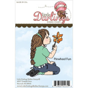 Little Darlings Unmounted Rubber Stamp-Pinwheel Fun