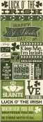 Reminisce St. Patrick's Day Graphic Scrapbook Sticker Sheet