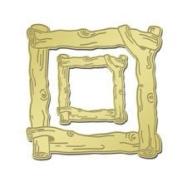 Gold Twig Frame Lil' Frames for Scrapbooking