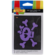 Scribbles Fabric Stamp-Small Skull